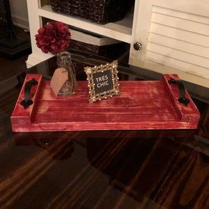 Small Rustic Distressed Wood Tray. One of a kind.